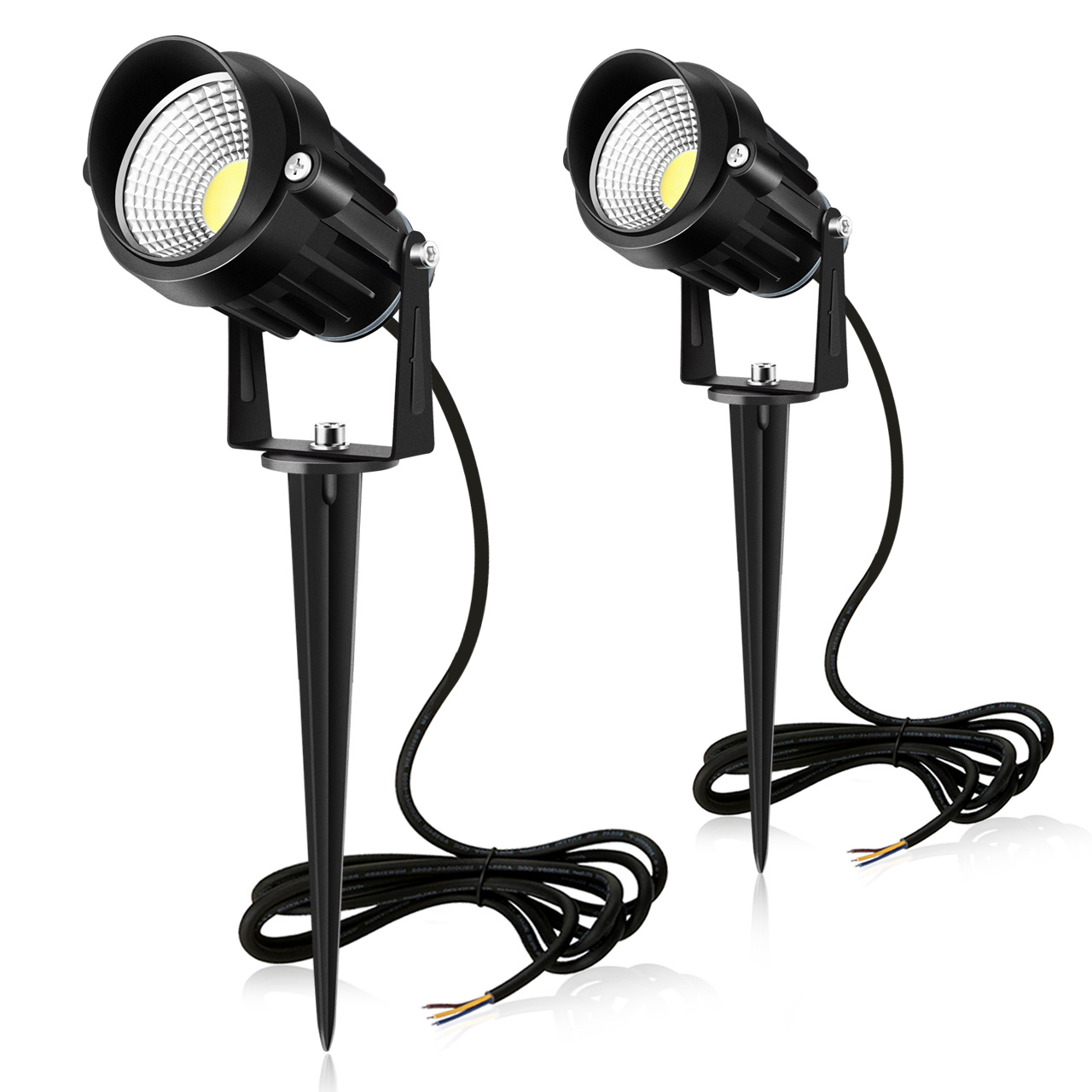 Garden Spotlights Daylight White 2 pack
