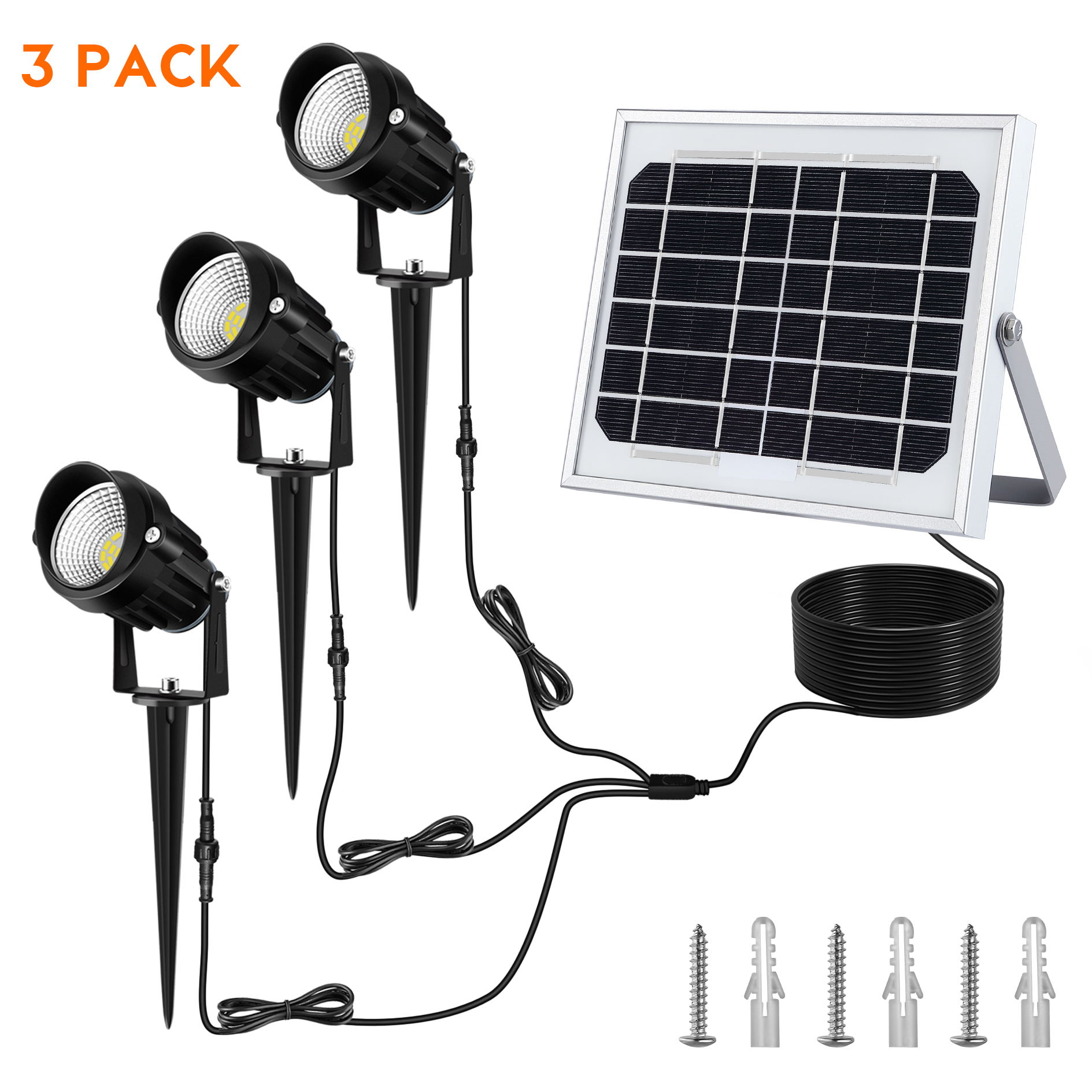 Solar Spotlights Landscape Outdoor 3 in 1