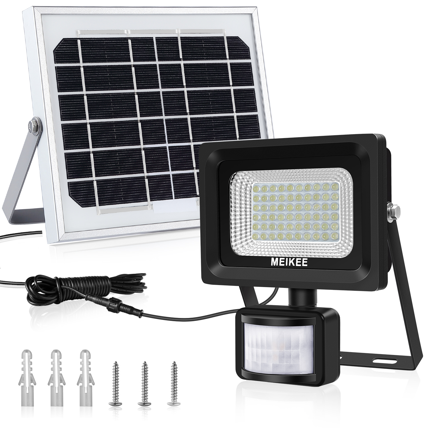MEIKEE Outdoor 60 LEDs Solar Security Light, Professional IP66 waterproof design for using at outdoor