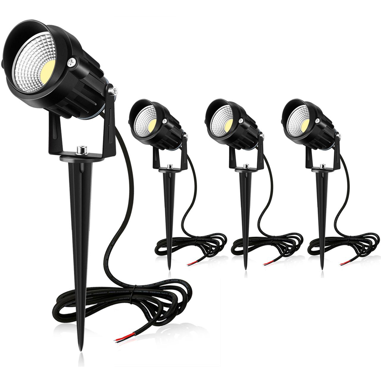 MEIKEE 7W LED Landscape Lights 12V/24V(4 Pack)